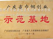 """2011广东省巾帼创业""""示范基地"""""""
