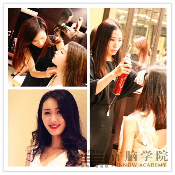 首脑化妆师为环球国际小姐做造型